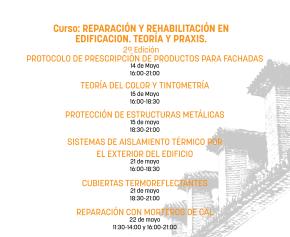 Curso: Reparación y rehabilitación en edificación. Teoría y praxis. 2ªEdición.